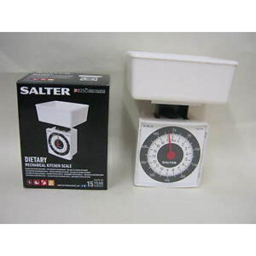 Salter Scales Kitchen Diet Mini Compact Scale White 022WHDR