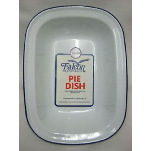 Falcon White Enamel Oblong Pie Baking Dish Tin 26cm