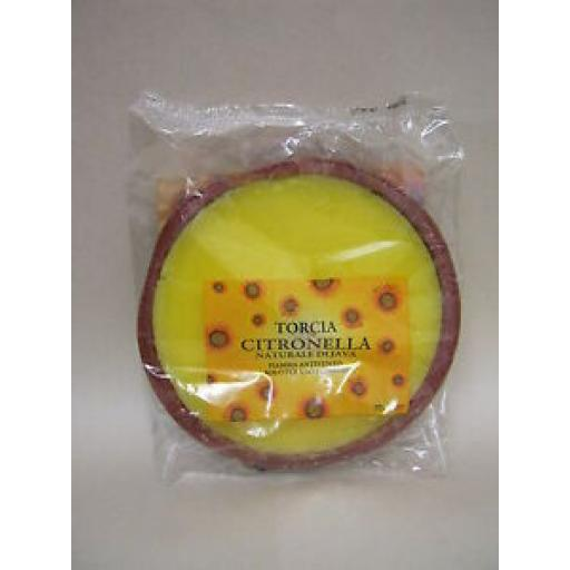 Citronella Plate Garden Candle Fragranced Party Light