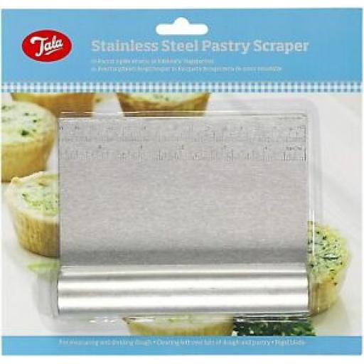 Tala Stainless Steel Pastry Scraper Dough Cutter 10A00983