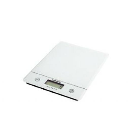 Sabichi White Glass Slim Line Digital 5kg Kitchen Scales 195302