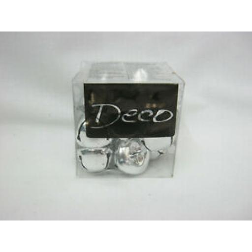 Deco Jingle Bells Baubles Pk 16 Silver 25mm