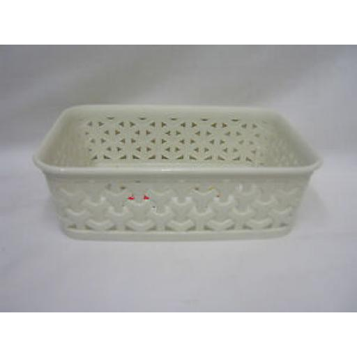 Curver My Style Small Shallow Oblong Storage Tray Plastic Cream 216719