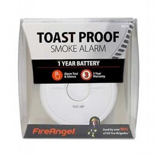 Fire Angel Smoke Fire Alarm Detector General Purpose Toast Proof SB1-R