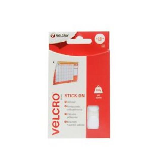 Velcro Stick On White Coins 16mm x 16 Sets 60227