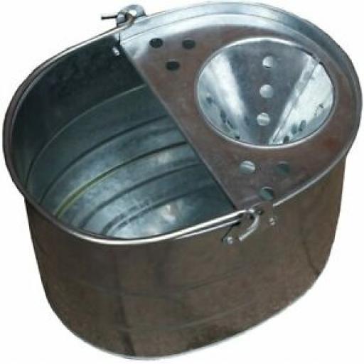 Supahome Galvanised Metal Mop Bucket 2 Gallon SHMB2