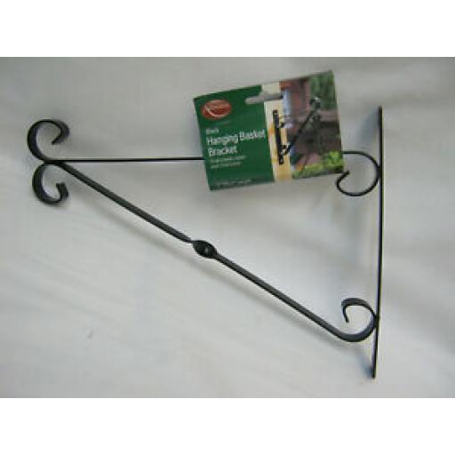 """Ambassador Garden Hanging Basket Bracket 12"""" 30cm Black 503042"""