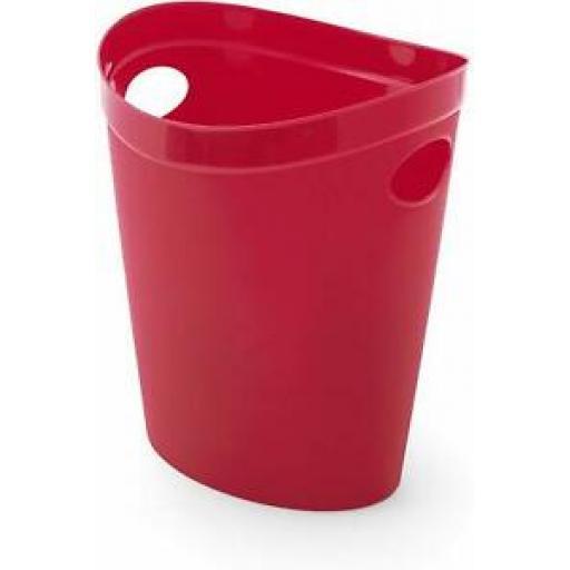 Addis Flexi Multi Storage Plastic Oval Waste Paper Bin Red 514804