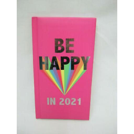 Tallon Padded Slim Diary 2021 Be Happy