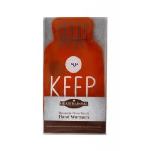 Hearth And Home Reusable Press Touch Hand Warmer Keep Calm HHHW30