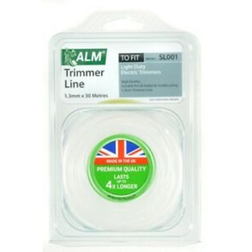 ALM Light Weight Electric Strimmer Cutting Line White 1.3mm 30 Metres SL001