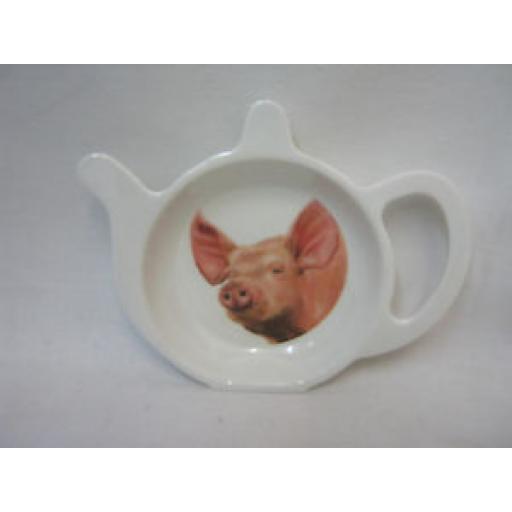 Lesser And Pavey Melamine Tea Bag Tidy Holder Pig Design LP99533