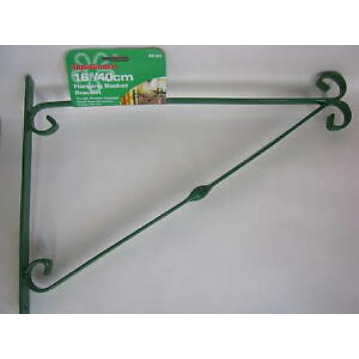 "Ambassador Hanging Basket Bracket 16"" 40cm Green SB16G"