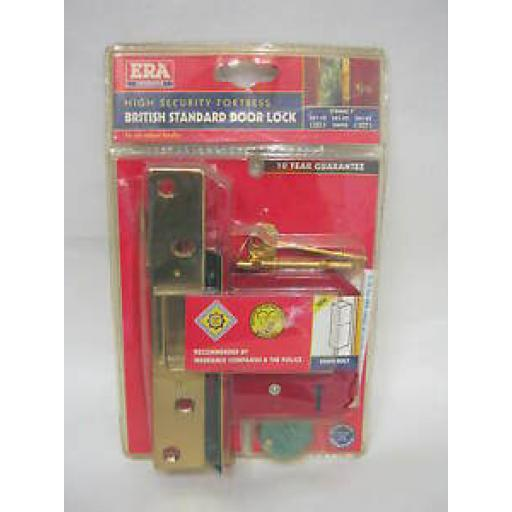 Era High Security Fortress 5 Lever Mortice Deadlock Brass 76mm 361-32