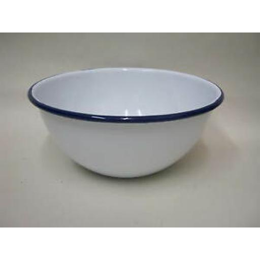 Falcon Enamel Round White Pudding Cereal Bowl Basin 14cm