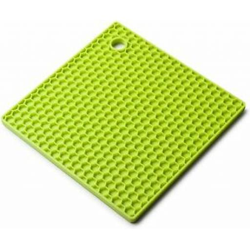 CKS Zeal Silicone Kitchen Honeycomb Hot Mat Square Trivet J352 Lime Green