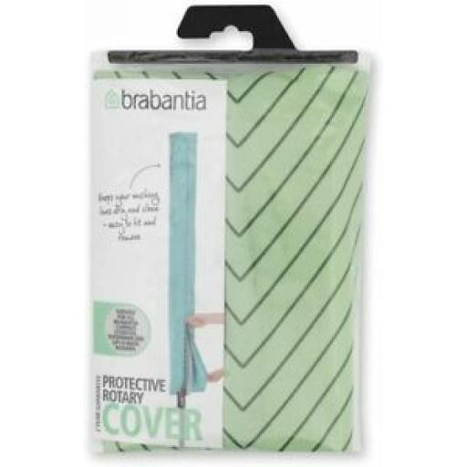 Brabantia Waterproof Rotary Line Airer Drier Cover Green Striped Leaf