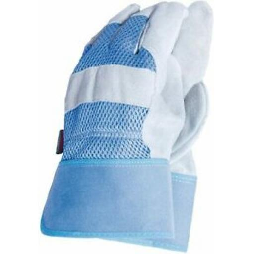 Town And Country Gardening Gloves Glove All Round Rigger Mens TGL106M 8M Blue