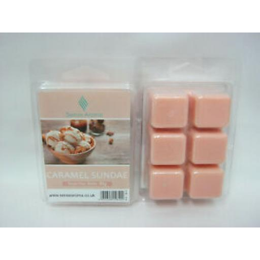 2 x Sense Aroma Fragranced Soy Wax Melts Caramel Sundae 80g