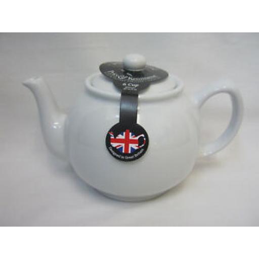 Price And Kensington Pot Teapot Tea Pot 0056.719 White 6 Cup