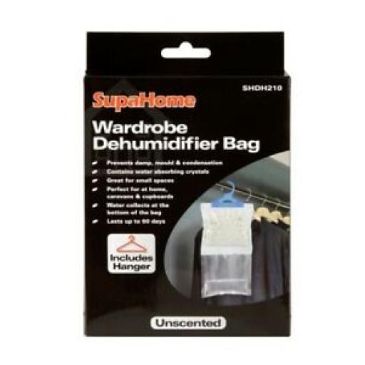 Supahome Moisture Wardrobe Dehumidifier Hanging Trap Bag Unscented SHDH210