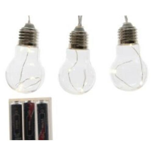 Lumino Indoor LED Battery Decoration String Light 8 Plastic Bulbs Warm White