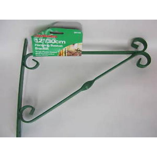 "Ambassador Garden Hanging Basket Bracket 12"" 30cm Green SB12G"