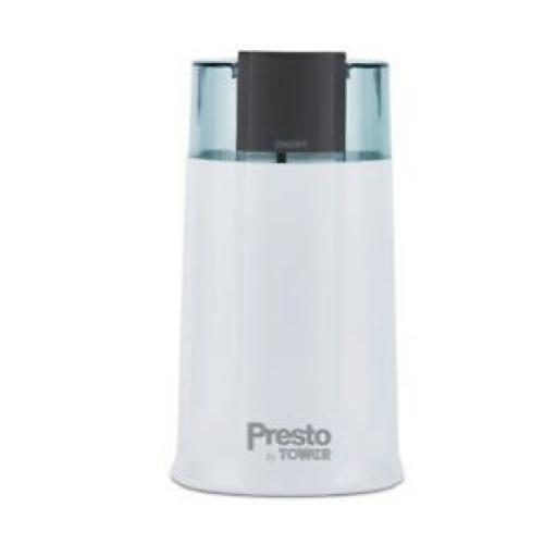 Presto By Tower Electric Coffee Spice Herb Grinder PT13012WHT