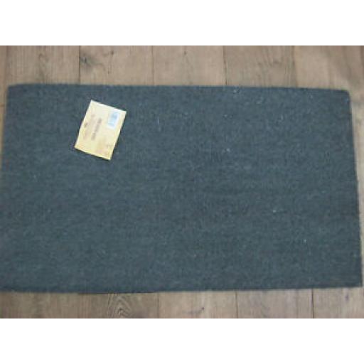 Groundsman PVC Backed Coir Door Mat Doormat Door Mat Plain Grey GMDM210