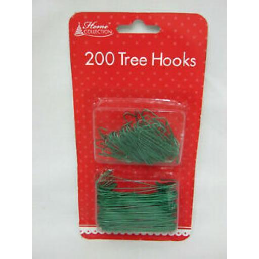 Anker Christmas Tree Decoration Hooks Green Wire Pk 200