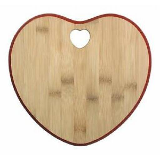 Richardson Sheffield Natural Kitchen Wood Bamboo Heart Serving Chopping Board