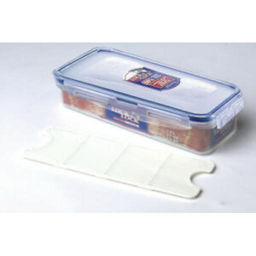 Lock and & Lock Rectangular Bacon Food Container 1L HPL842