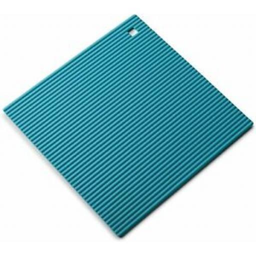 Zeal Heat Resistant Silicone Kitchen Hot Mat Square Trivet J310 22cm Aqua Blue
