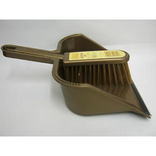 Groundsman Stiff Bristle Nylon Hand Brush Dustpan Set PA99301