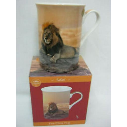 Lesser And Pavey Fine China Mug Beaker Coffee Tea Wildlife Lion Design LP94020