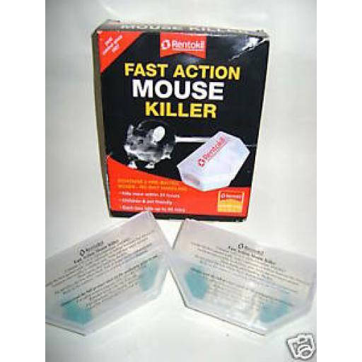 Rentokil Fast Action Mouse Killer Bait Box 2 Pack