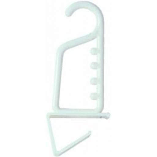 Chef Aid White Over Door Hook Hanger 10E00501
