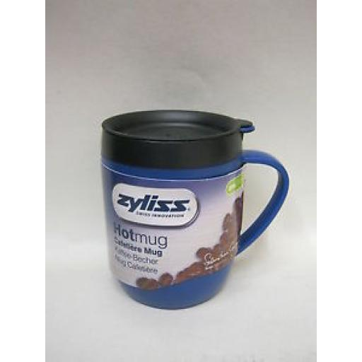 DKB Zyliss Smart Cafe Hot Mug Cup Coffee Cafetiere Blue
