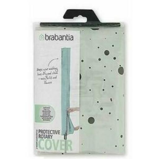 Brabantia Waterproof Rotary Line Airer Drier Cover Grey And Black New Design