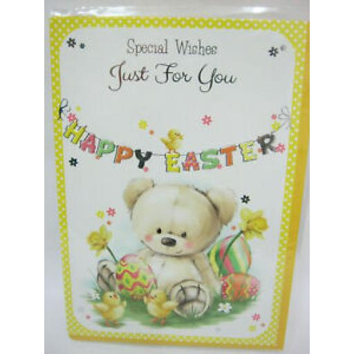 Special Wishes Just For You Happy Easter Card Teddy BE-39710-A