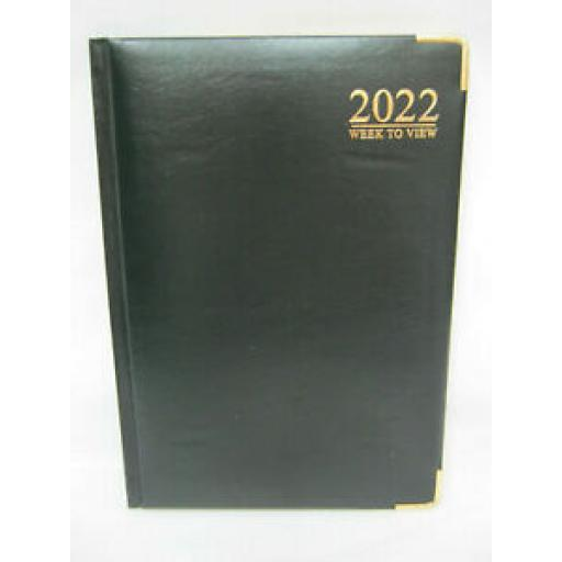 Tallon Week To View Diary A5 2022 Padded Back Black
