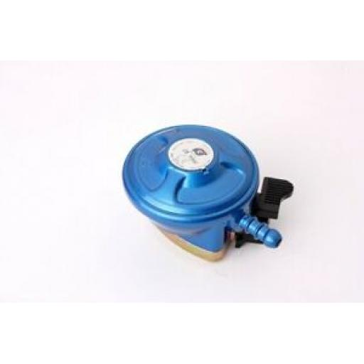 Lifestyle Clip On Low Pressure Gas Bottle Regulator 21mm Blue Butane