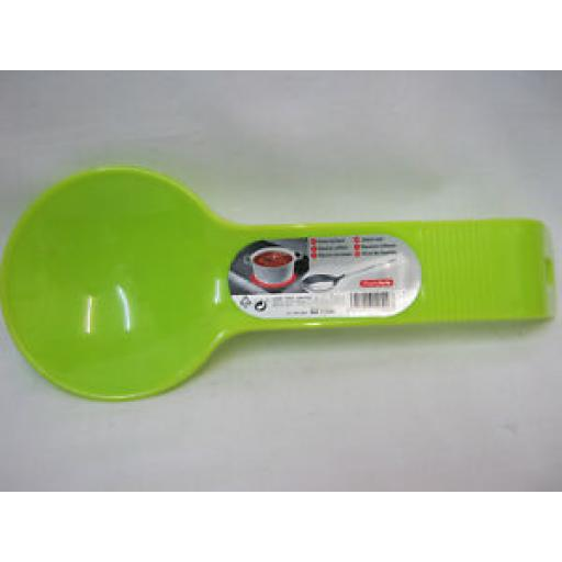 Albero PlasticForte Large Plastic Spoon Rest Lime Green 11540