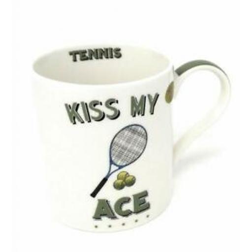 Lesser And Pavey Mug Beaker Coffee Tea Cup Tennis Kiss My Ace LP93576