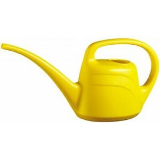 Geli Eden Plastic Watering Can 2 Litre Long Spout Yellow
