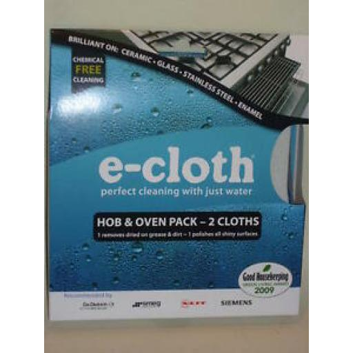 E-Cloth Hob And Oven Pack 2 Cloths Chemical Free Cleaning