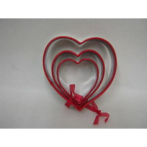 Biscuit Pastry Cookie Metal Cutters Set Of 3 Hearts