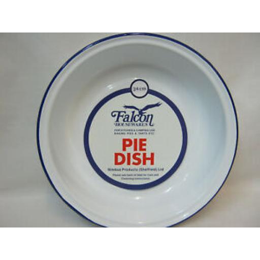 Falcon White Enamel Round Pie Baking Dish Tin 24cm
