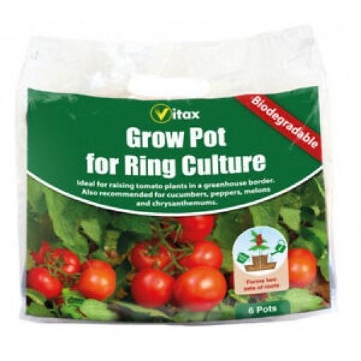 Vitax Grow Pot For Ring Culture Bioderadable 6 Pots