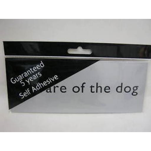 Beware Of The Dog Self Adhesive Name Plate Sign Plaque Silver MEP41
